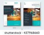 cover design for annual report  ... | Shutterstock .eps vector #437968660