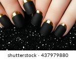 black matte nail polish.... | Shutterstock . vector #437979880