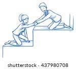 happy business team  men and... | Shutterstock .eps vector #437980708