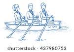 happy business team  men and... | Shutterstock .eps vector #437980753