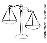 scales of justice sign | Shutterstock .eps vector #437984050