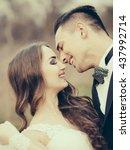 beautiful bridal couple of... | Shutterstock . vector #437992714