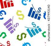 recession vector seamless... | Shutterstock .eps vector #437993140