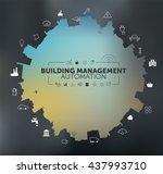 building management automation... | Shutterstock .eps vector #437993710