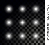glowing sparkling stars on... | Shutterstock .eps vector #437997478