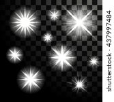 glowing sparkling stars on... | Shutterstock .eps vector #437997484