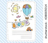 vector doodle page for kids and ... | Shutterstock .eps vector #438005014
