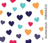 Seamless Hearts Pattern With...