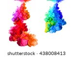 rainbow of colors. acrylic ink... | Shutterstock . vector #438008413