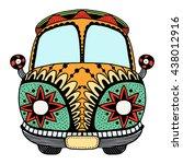 vintage car. hand drawn image.... | Shutterstock .eps vector #438012916
