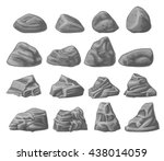 Natural Rocks Set Isolated On...