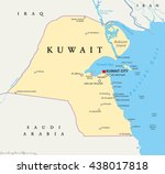 kuwait political map with... | Shutterstock .eps vector #438017818