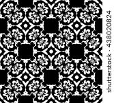 abstract black and white... | Shutterstock .eps vector #438020824