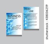 vector brochure flyer design... | Shutterstock .eps vector #438036259