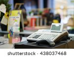 one cash register with a bar... | Shutterstock . vector #438037468