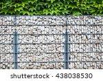 gabion fence  wall  from  steel ... | Shutterstock . vector #438038530