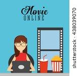 movie online design  | Shutterstock .eps vector #438039070