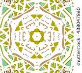 multicolored kaleidoscopic tile ...   Shutterstock . vector #438047860