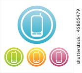 set of 4 colorful mobile phone... | Shutterstock .eps vector #43805479