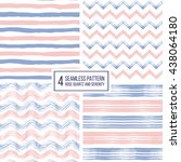 set of grunge seamless pattern... | Shutterstock .eps vector #438064180