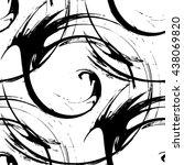 design monochrome vortex... | Shutterstock .eps vector #438069820
