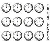 isolated set of twelve clock... | Shutterstock . vector #438072850