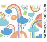 hand drawn abstract vector card | Shutterstock .eps vector #438073258