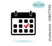 calendar sign icons  vector... | Shutterstock .eps vector #438077950