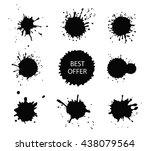 vector paint splashes.paint... | Shutterstock .eps vector #438079564