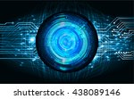 blue abstract light hi speed... | Shutterstock .eps vector #438089146