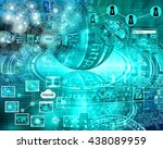 many abstract images on the... | Shutterstock . vector #438089959
