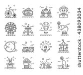 circus icons set in linear... | Shutterstock .eps vector #438093034
