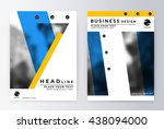 layout design template  annual...   Shutterstock .eps vector #438094000