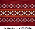 geometric ethnic ikat pattern... | Shutterstock .eps vector #438095824