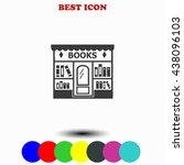 bookstore icon. | Shutterstock .eps vector #438096103