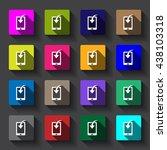 smartphone icon vector....