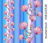 seamless floral pattern with... | Shutterstock . vector #438103528