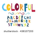 colorful vector font with...   Shutterstock .eps vector #438107203
