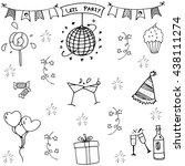party in doodle element | Shutterstock .eps vector #438111274
