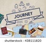 traveling destination journey... | Shutterstock . vector #438111820
