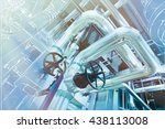 equipment  cables and piping as ... | Shutterstock . vector #438113008