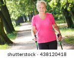 Elderly Senior Woman In Sporty...