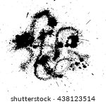 abstract ink drops background.... | Shutterstock .eps vector #438123514