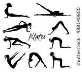 vector pilates illustration.... | Shutterstock .eps vector #438140800
