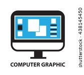 computer graphic  icon and... | Shutterstock .eps vector #438145450