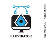 illustrator  icon and symbol