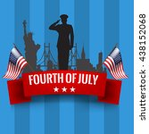 fourth of july. independence... | Shutterstock .eps vector #438152068