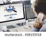 headhunting hiring employment... | Shutterstock . vector #438155518