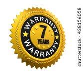 7 years warranty sign. 3d... | Shutterstock . vector #438156058