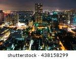 aerial view of bangkok city at... | Shutterstock . vector #438158299